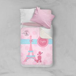 Ohh La La Paris Sherpa Blanket