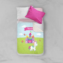 Pretty Heart Castle Sherpa Blanket