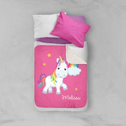 Rainbow Unicorn Sherpa Blanket