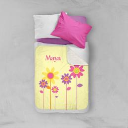 Three Spring Blooms Sherpa Blanket