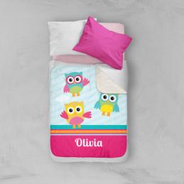Three Owls Sherpa Blanket