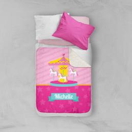 Sweet Carousel Sherpa Blanket