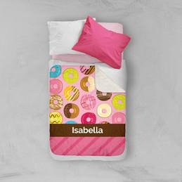 Sweet Donuts Sherpa Blanket
