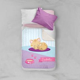 Cute Little Kitten Sherpa Blanket
