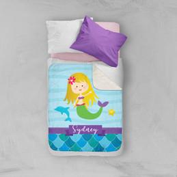 Mermaid Shades Sherpa Blanket
