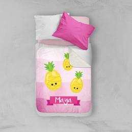 Yummy Pineapples Sherpa Blanket