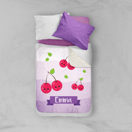 Yummy Cherries Sherpa Blanket