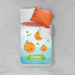 Yummy Oranges Sherpa Blanket