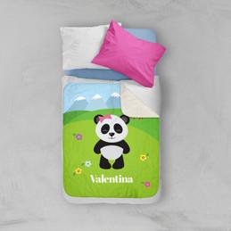 Sweet Panda Sherpa Blanket