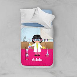 Cute Scientist Girl Sherpa Blanket