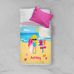 Beach Girl Sherpa Blanket