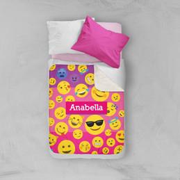 Girl Emojis Sherpa Blanket
