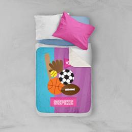 Girl Love For Sports Sherpa Blanket