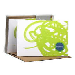 Awesome Boxed Stationery Note Cards | Urban Graffitti Green
