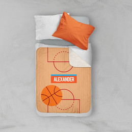 Basketball Fan Sherpa Blanket