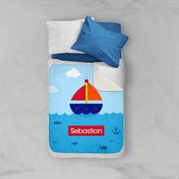 Sailing The Blue Ocean Sherpa Blanket