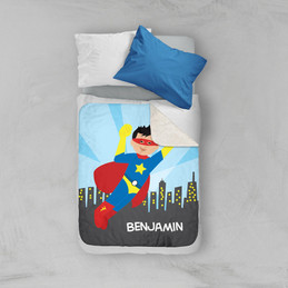 A Cool Superhero Sherpa Blanket