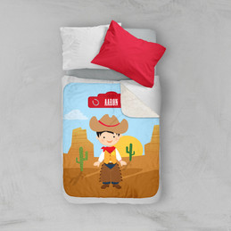 Cowboy Sherpa Blanket