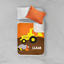 Fun Tractor Sherpa Blanket
