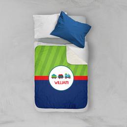 Cho Cho Train Sherpa Blanket