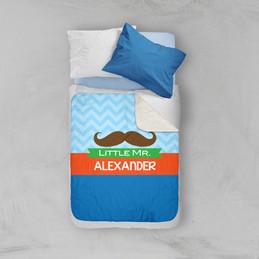 Little Mr. Mustach Sherpa Blanket