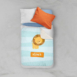 Cute Baby Lion Sherpa Blanket