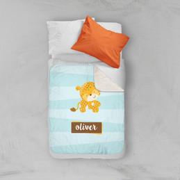 Cute Baby Cheetah  Sherpa Blanket