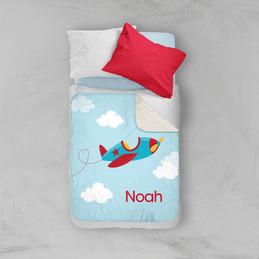 Fly Little Plane Sherpa Blanket