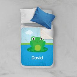 Cute Smiley Frog Sherpa Blanket