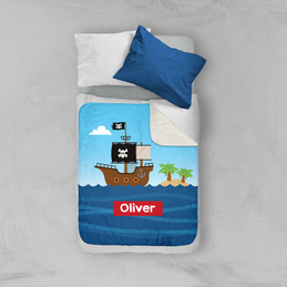 All Aboard Pirates Sherpa Blanket
