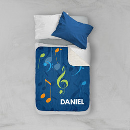 Musical Notes Sherpa Blanket