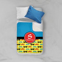 Super Hero Masks Sherpa Blanket