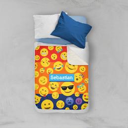 Boy Emojis Sherpa Blanket