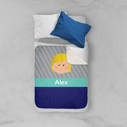 Just Like Me Boy Grey Sherpa Blanket