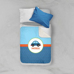 Cute Little Car Pattern Sherpa Blanket