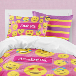 Girl Emojis Duvet Cover