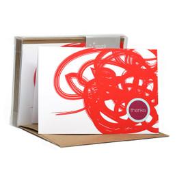 Urban graffitti Red Notecards
