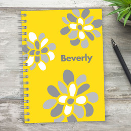 Stamped Blossoms Writing Journal