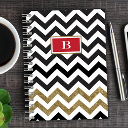 Black Chevron Writing Journal