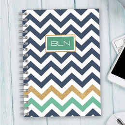 Blue Chevron Writing Journal