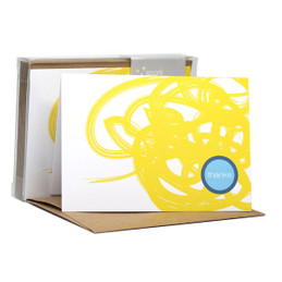 Urban graffitti Yellow Notecards