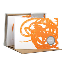 Original Boxed Blank Note Cards | Urban Graffitti Orange