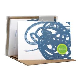 Cute Boxed Blank Note Cards | Urban Graffitti Blue
