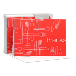 Cute Boxed Blank Note Cards | Delicious Thanks Red