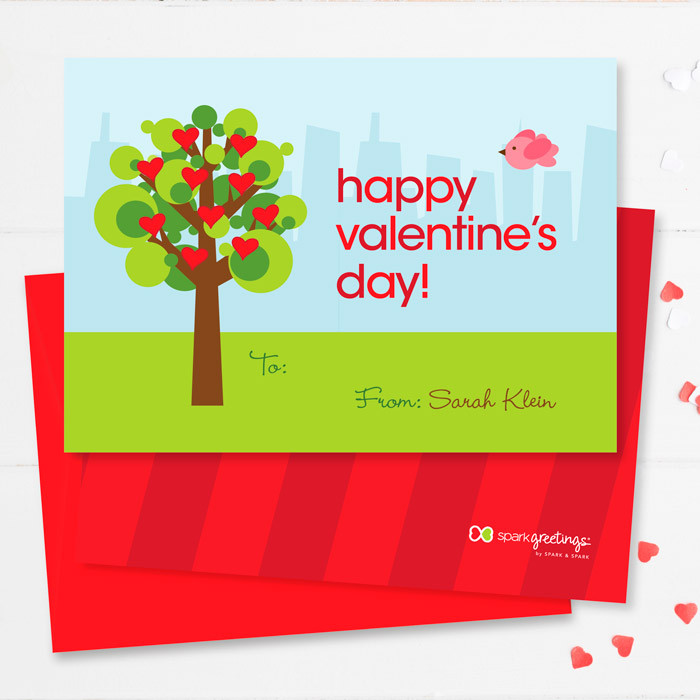 A Tree Of Love Valentine Exchange Cards By Spark Spark