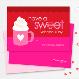 A Cup Of Sweetness Kids Valentines Cards