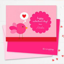 Colorful Valentines Day Cards For School | I Am Thinking Of Love