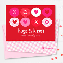 Hugs And Kisses Kids Valentines Cards