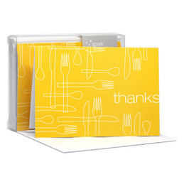 Beautiful Blank Notecard | Delicious Thanks Yellow