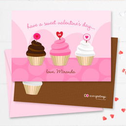 Toddler Valentine Cards | A Sweet Cupcake For